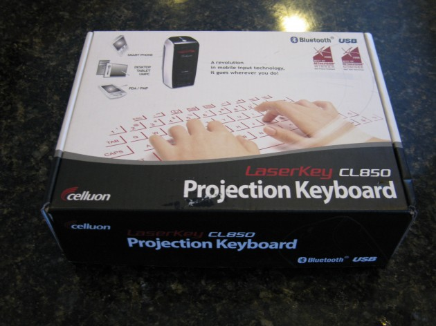 Celluon LaserKey CL850 box