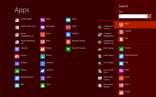 Windows 8 all apps